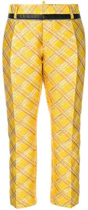 DSQUARED2 checked trousers
