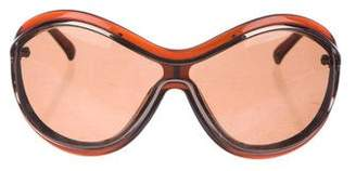 Valentino Shield Tinted Sunglasses