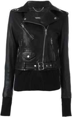 Diesel classic biker jacket $628.74 thestylecure.com