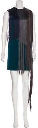 Lanvin Colorblock Fringe Dress