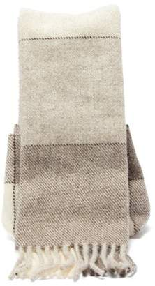 Jil Sander Scarf Wool Handbag - Womens - Light Grey