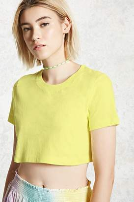 Forever 21 Boxy Cropped Tee