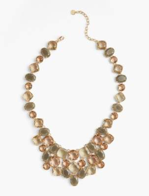 Talbots Neutral Crystals Necklace