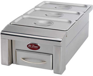 """Cal Flame 12"""" Drop-In Food Warmer for Outdoor Grill Island"""