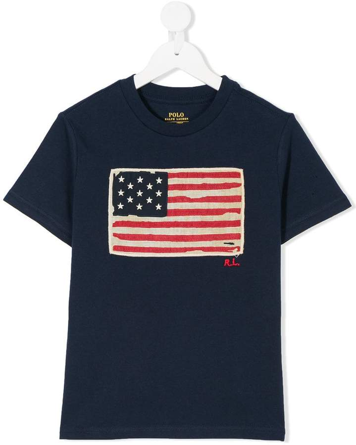 American flag patch T-shirt