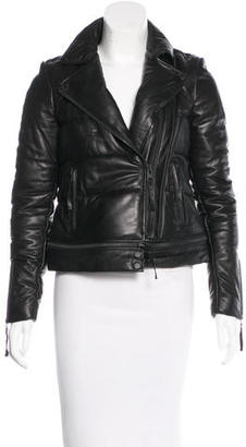 AllSaints Leather Quilted Jacket $225 thestylecure.com