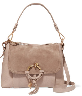 See by Chloé - Joan Small Textured-leather And Suede Shoulder Bag - Blush $460 thestylecure.com