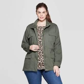 Ava & Viv Women's Plus Size Military Jacket