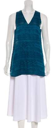 Vince Jacquard Sleeveless Top