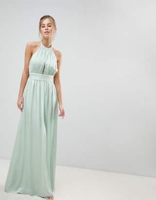 Little Mistress Halterneck Maxi Dress