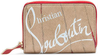 Christian Louboutin Panettone Beige Leather Coin Purse