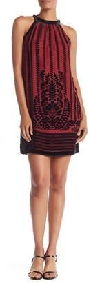 Max Studio Velvet Sleeveless Shift Dress