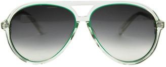 Matthew Williamson Green Plastic Sunglasses