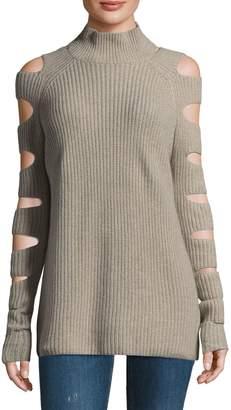 Zoe Jordan Ribbed Cashmere-Blend Sweater