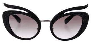 Miu Miu Embellished Cat-Eye Sunglasses