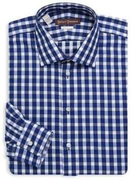 Hickey Freeman Gingham Cotton Dress Shirt