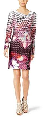 Rachel Roy Women's Printed Drape Nk Jersey Shift Dress