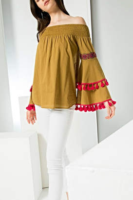THML Clothing Bell Pommed Top