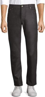 Isaia Straight-Fit Flannel Wool Pants