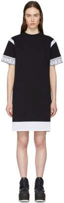 Kenzo Black and White Mix Mesh T-Shirt Dress