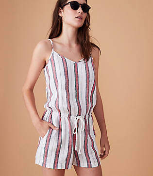 Lou & Grey Striped Cami Romper