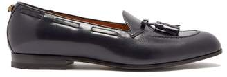 Gucci Leather Tassel Loafers - Mens - Navy