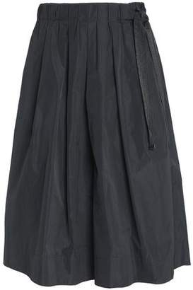 Brunello Cucinelli Bead-Embellished Pleated Taffeta Skirt