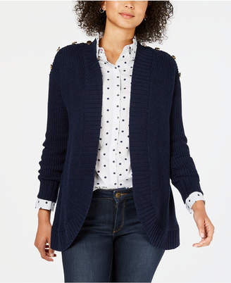 Charter Club Petite Open-Front Completer Cardigan