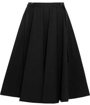 Bottega Veneta Pleated Stretch-Cotton Skirt