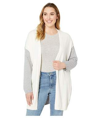 Vince Camuto Specialty Size Plus Size Long Sleeve Color Block Cardigan