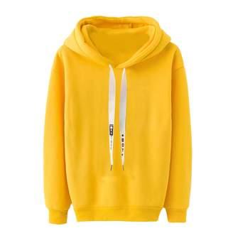 E-Scenery Women Sweatshirt and Hoodie E-Scenery Women's Hoodie Sweatshirt Solid Drawstring Long Sleeve Hooded Pullover Tops