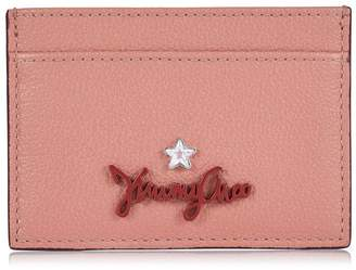 Jimmy Choo ARIES Rosewood Grainy Calf Leather Card Holder
