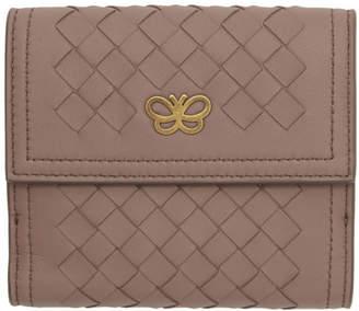 Bottega Veneta Pink Intrecciato Small Flap Wallet