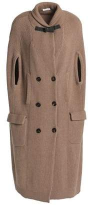 Brunello Cucinelli Bead-Embellished Ribbed Cashmere Cape