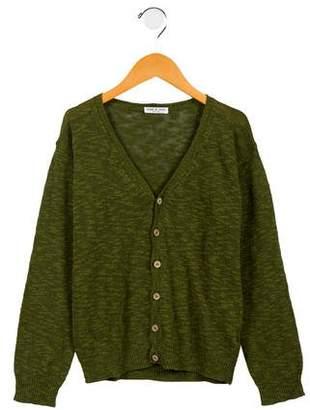 Babe & Tess Kids' Linen-Blend Knit Cardigan