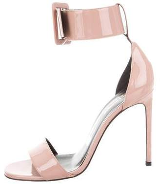 Saint Laurent Jane Patent Leather Ankle Cuff Sandals