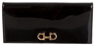 Salvatore Ferragamo Salvatore Ferragamo Patent Leather Long Wallet
