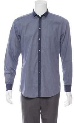 Dolce & Gabbana Micro Check Button-Up Shirt