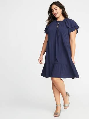 Old Navy High-Neck Plus-Size Swing Dress