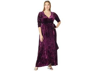 Kiyonna Cara Velvet Wrap Dress