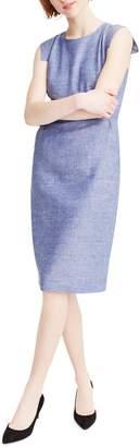 J.Crew Resume Linen Blend Sheath Dress