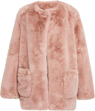 Apparis Jessica Faux Fur Collarless Coat