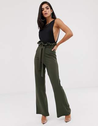 In The Style Sarah Ashcroft flared high waisted paperbag pants