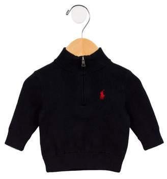 Ralph Lauren Boys' Mock Neck Half-Zip Sweater w/ Tags