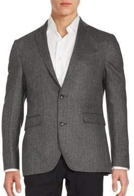 Saks Fifth Avenue Cashmere Herringbone Sportcoat