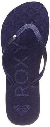 Roxy Girls' Rg Viva Glitter Ii Beach & Pool Shoes, (Blue Curacao Buu)