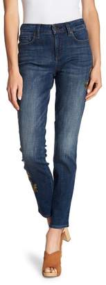 NYDJ Alina Embroidered Straight Leg Jeans