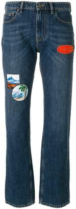Kenzo patchwork straight-leg jeans