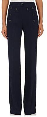 Derek Lam Women's High-Waist Flared Trousers-NAVY $1,515 thestylecure.com