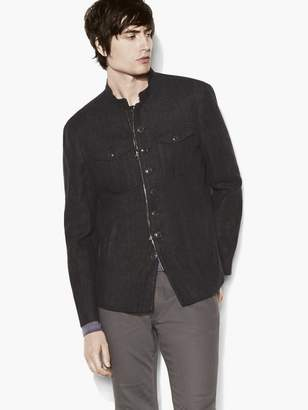 John Varvatos Linen Military Shirt Jacket